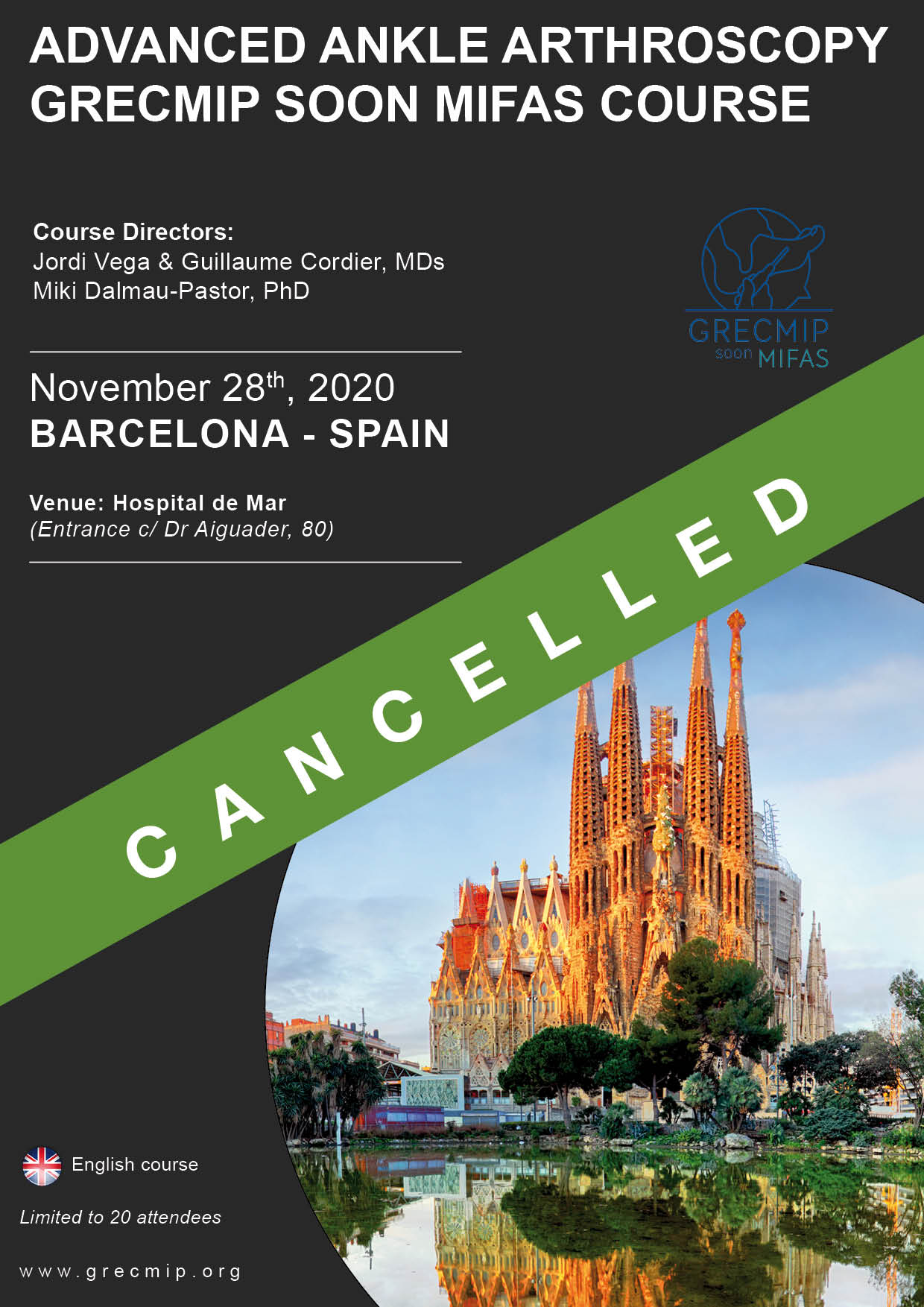 Advanced ArthroBCN 2020 cancelled